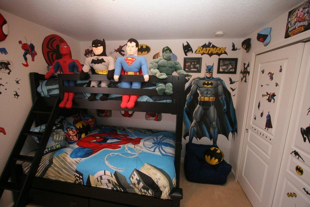 Super Heroes Themed Kids Bedroom
