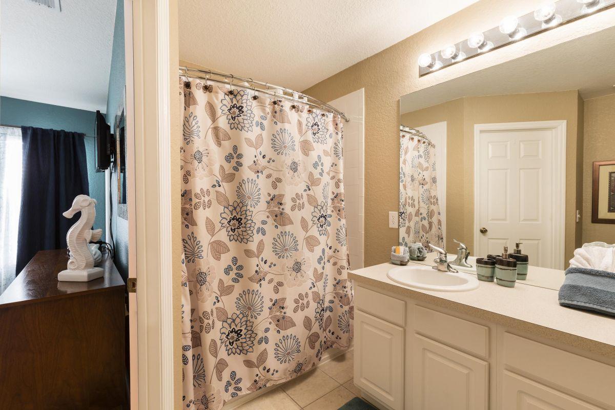 The master en-suite bathroom with deep tub.