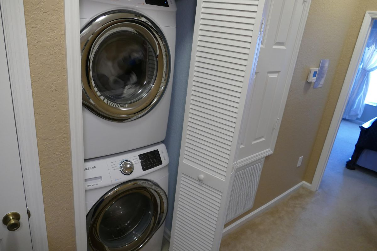 Stacking Full Size Washer & Dryer