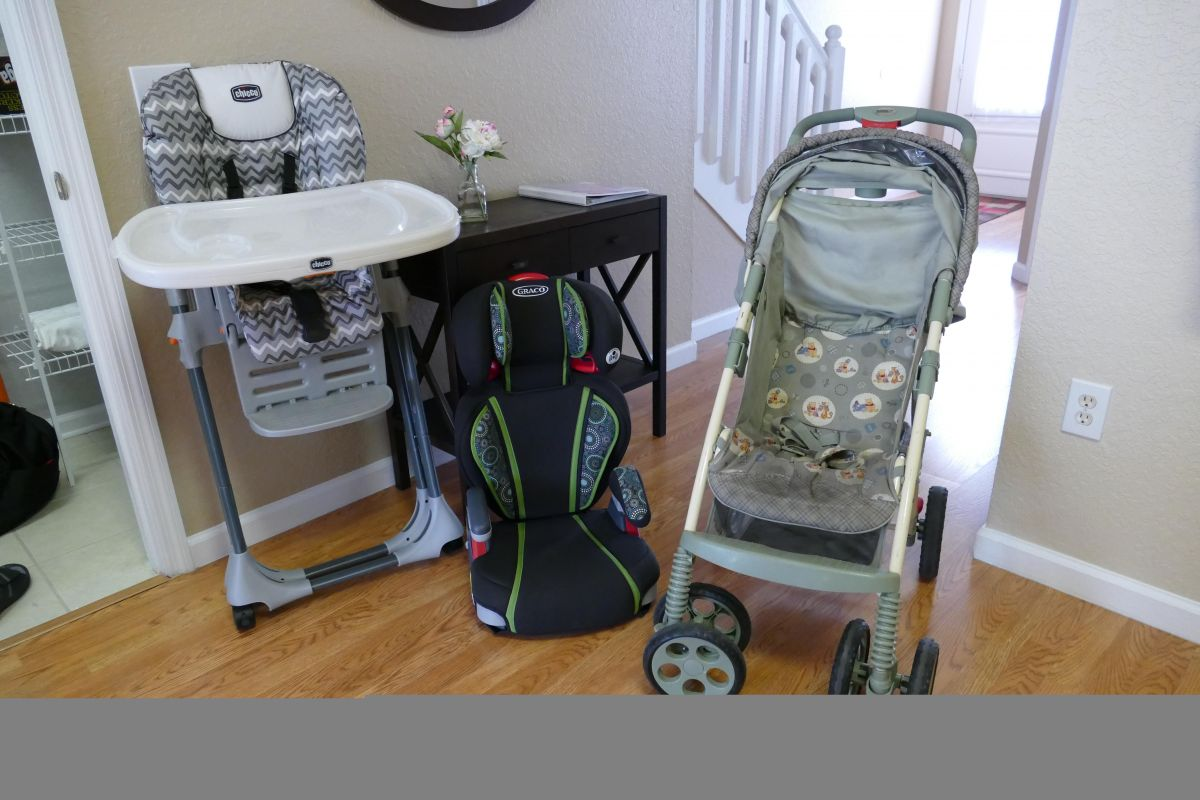 Stroller, High Chair and Booster Seat Available for Your Use