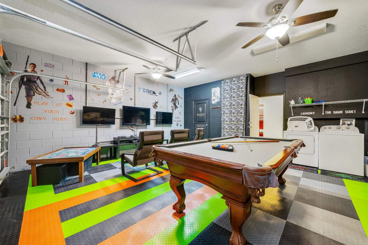 May the Force be with you in the Star Wars themed game room