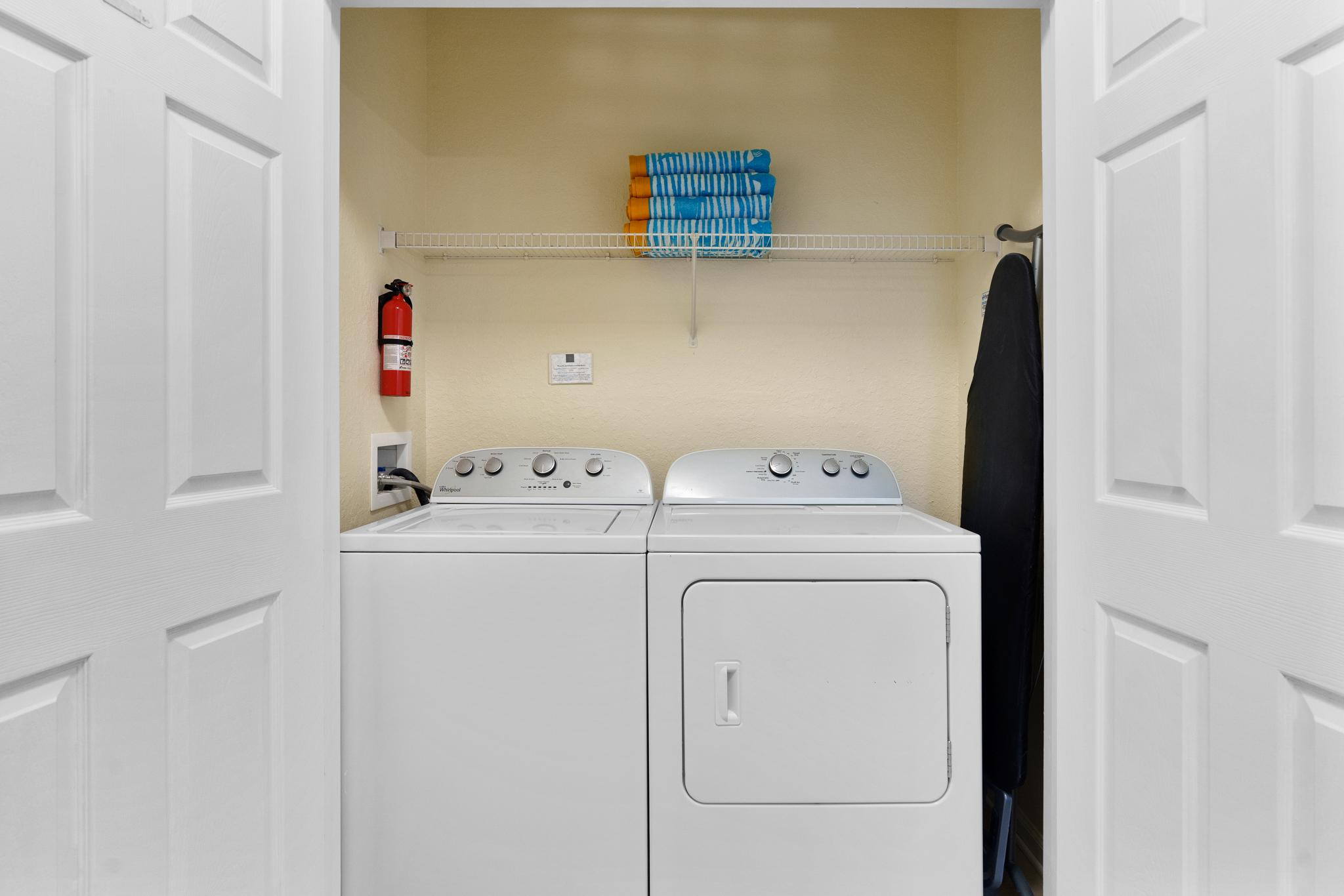 In-unit full-size washer/dryer