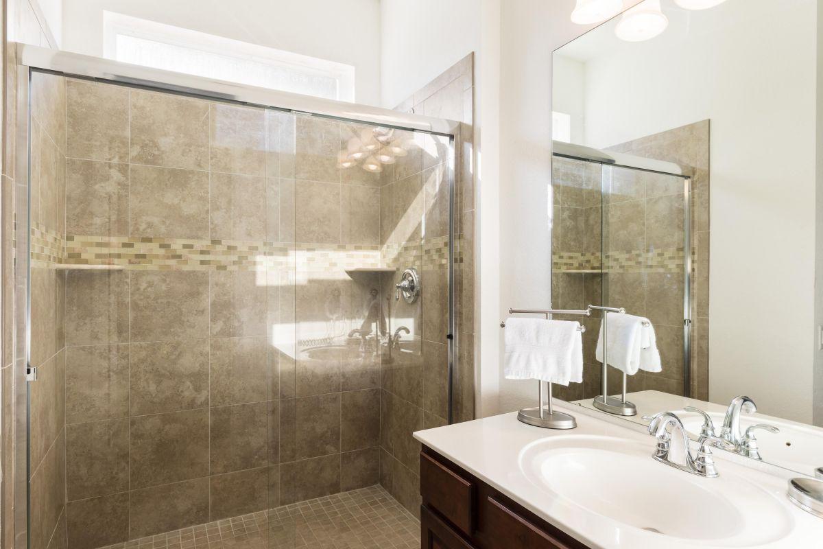 Ensuite Remodeled Master Bath (#2) With Tile Shower