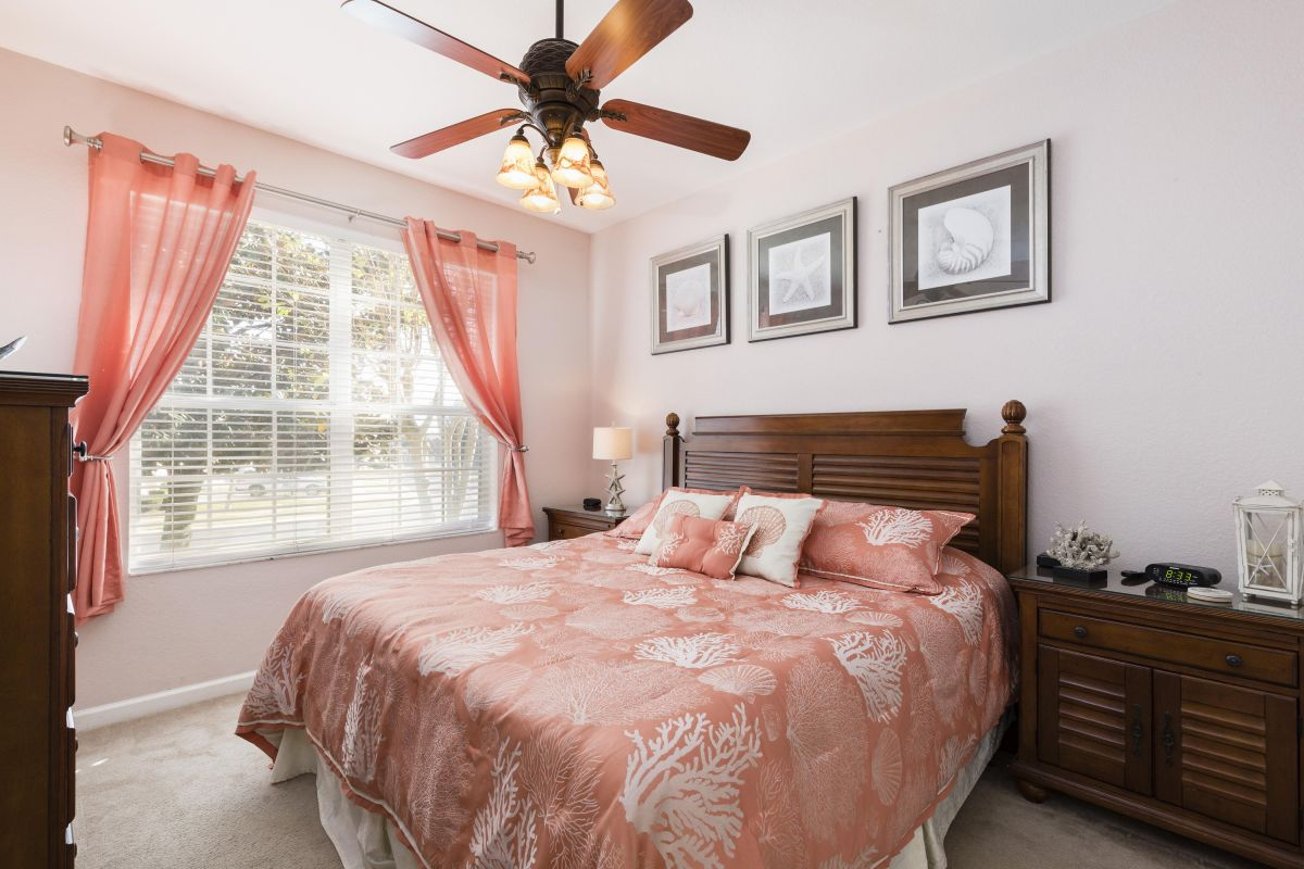 Downstairs King Master Bedroom (#2) with HD TV, Luxury Linens and Ensuite Bath