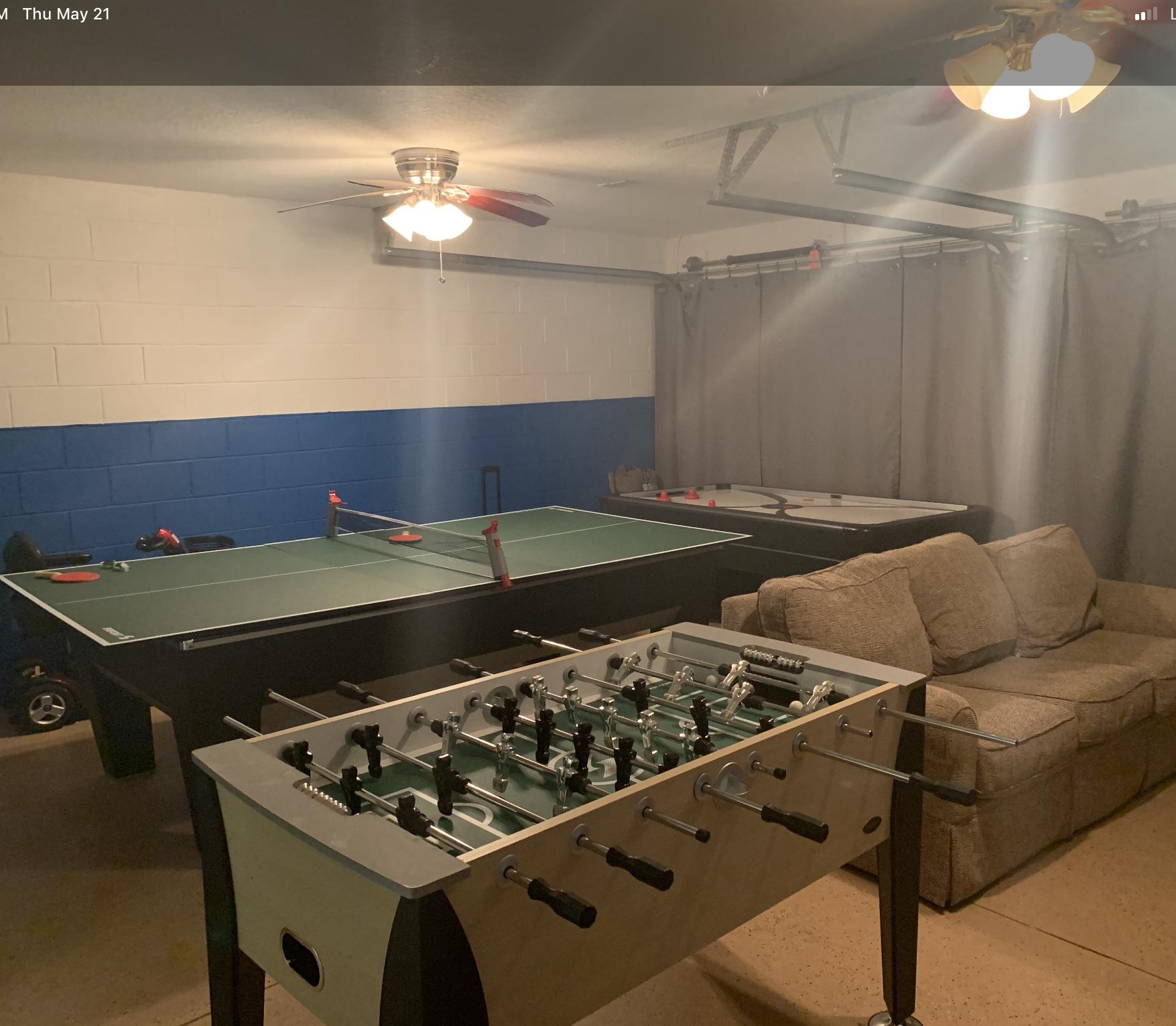 Game Room Pool Plus 4 Sets of Golf Clubs