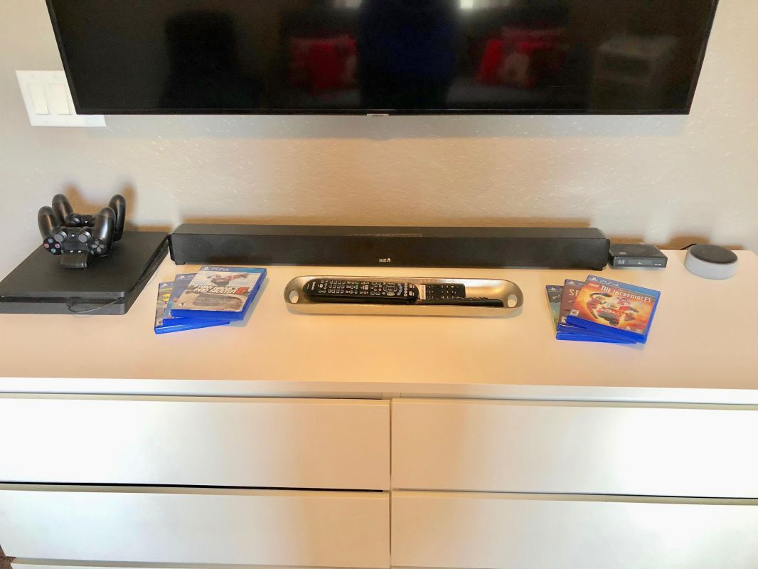 PS4 with Games, Sound Bar, and Gaming Chair!