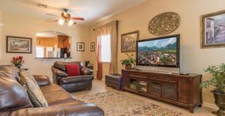 Great room with huge flat screen tv & spacious