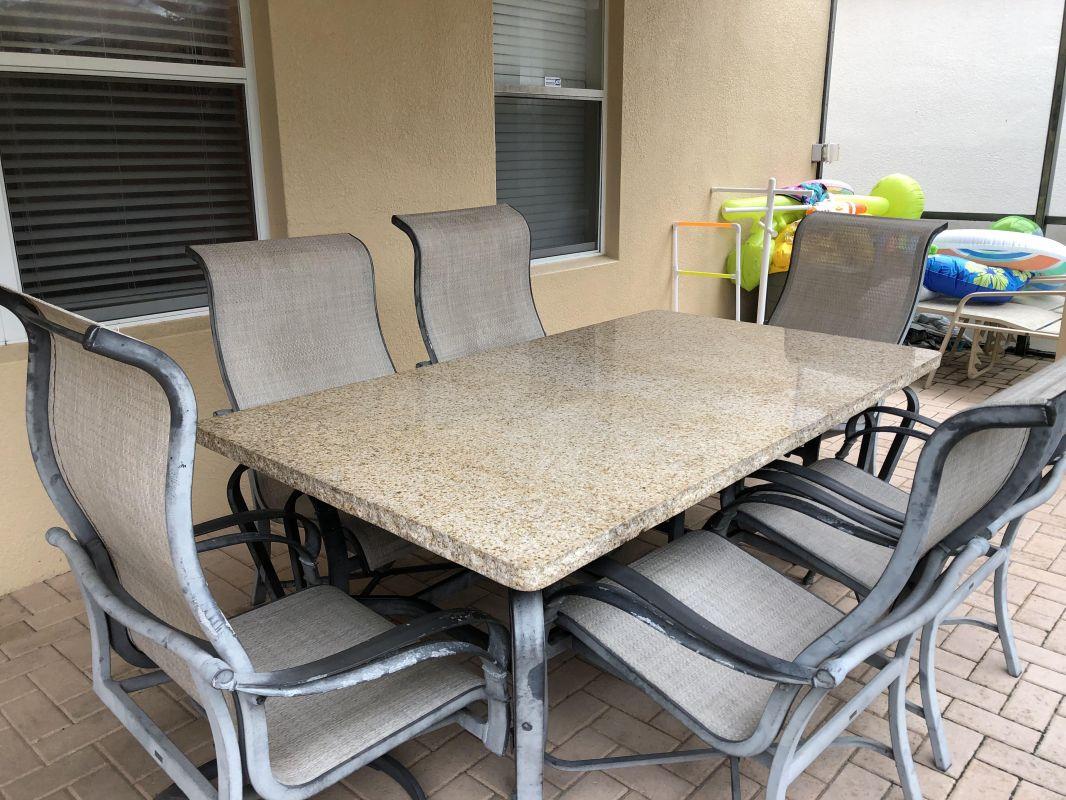 Huge table for eating pool side&kids picnic table