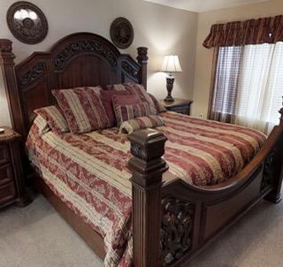Luxurious and comfortable master bed