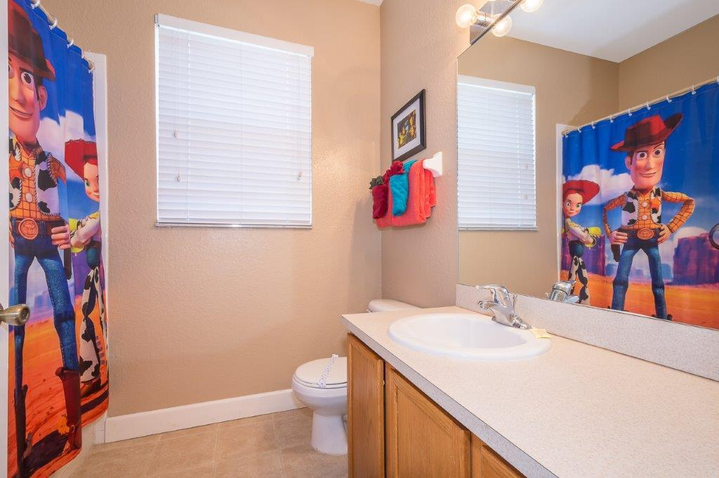 Toy story themed guest bathroom.