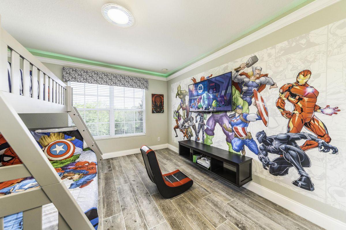 Super Hero Themed Bedroom