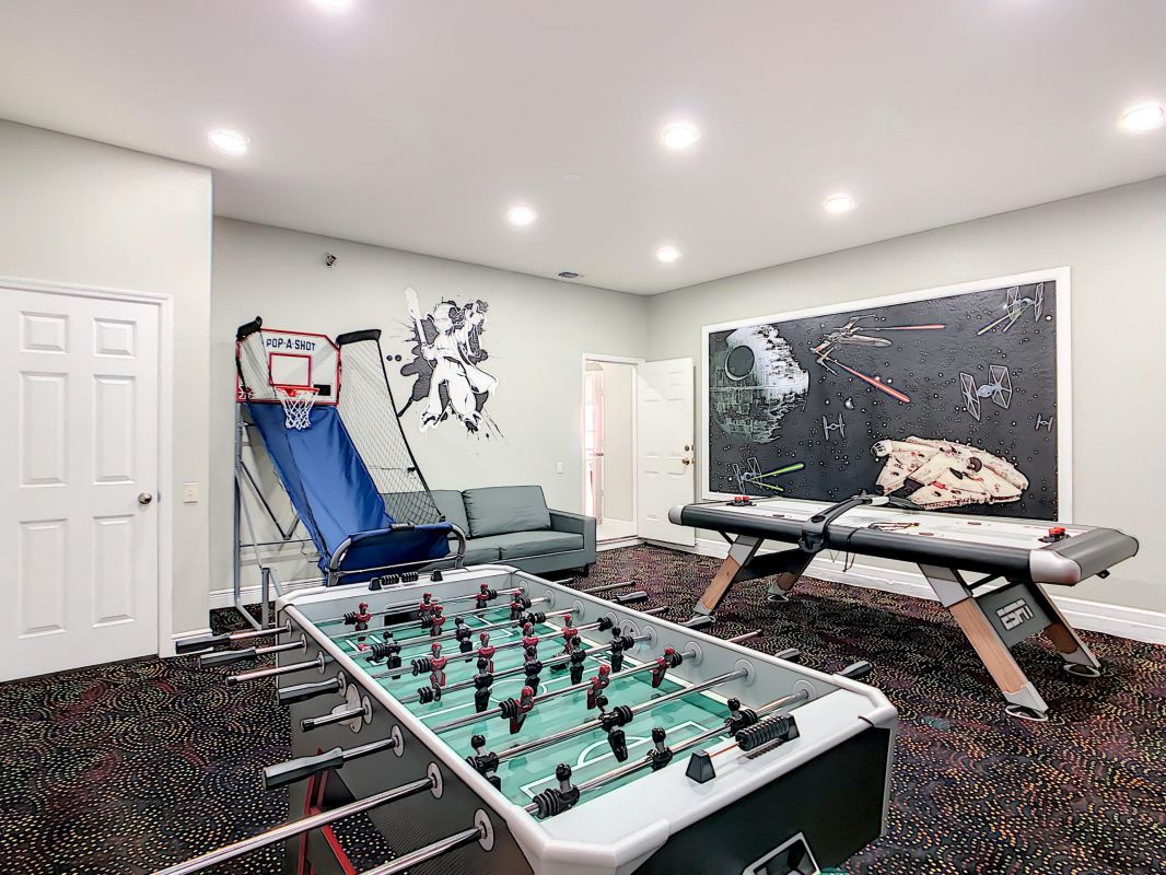 Brand new gameroom converted from the garage.