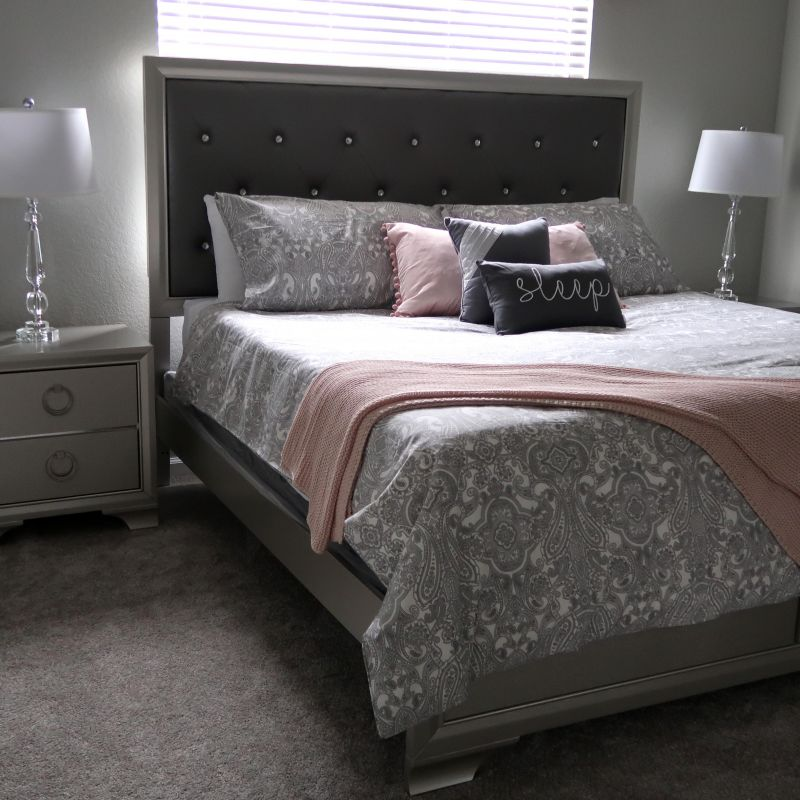 Aurora bedroom with king bed