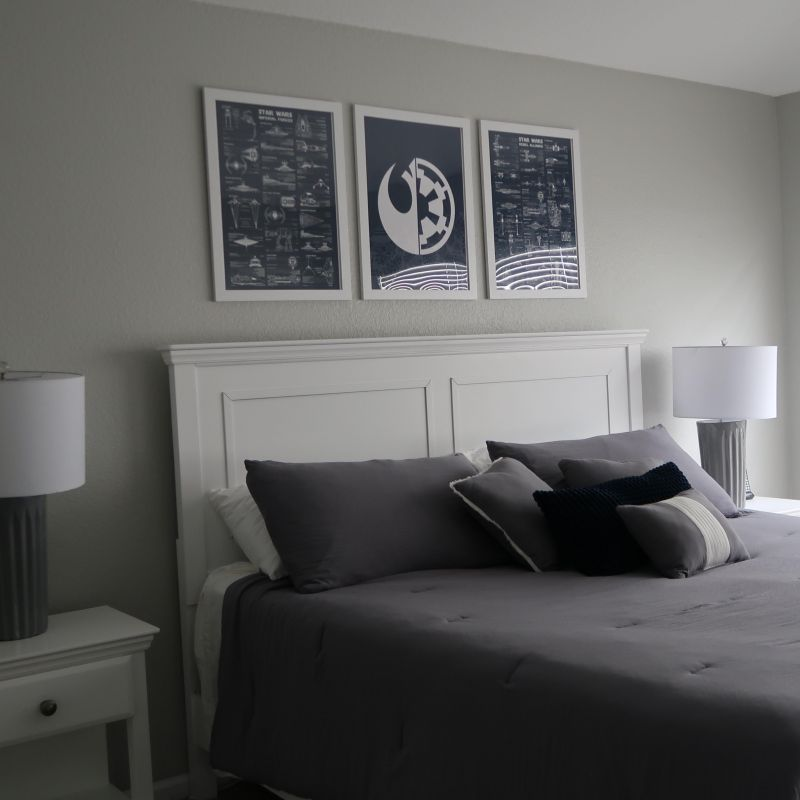 Luke master bedroom with king bed