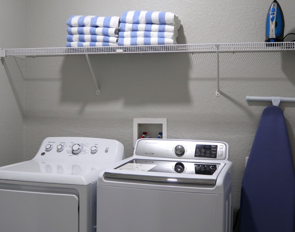 Laundry room with starter supply for your first load