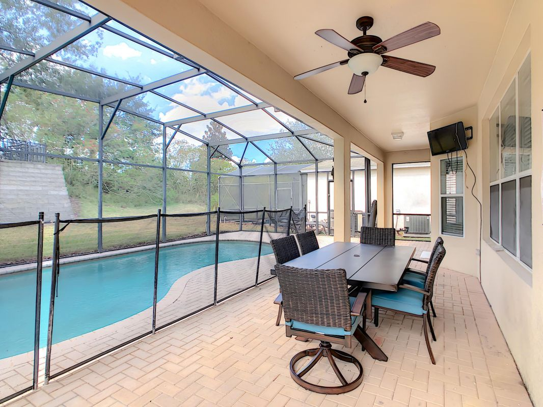 Enjoy your own private pool and heated spa.