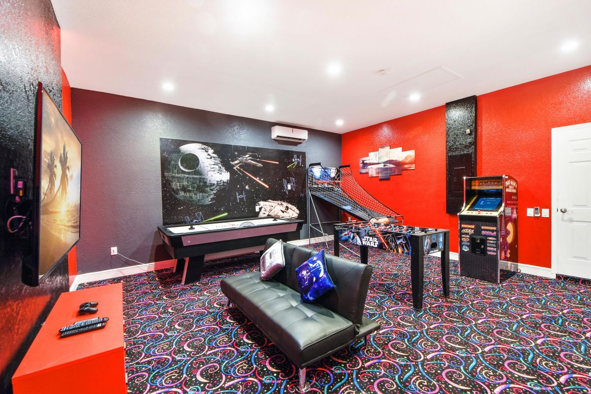 Private In-House Star Wars Game Room