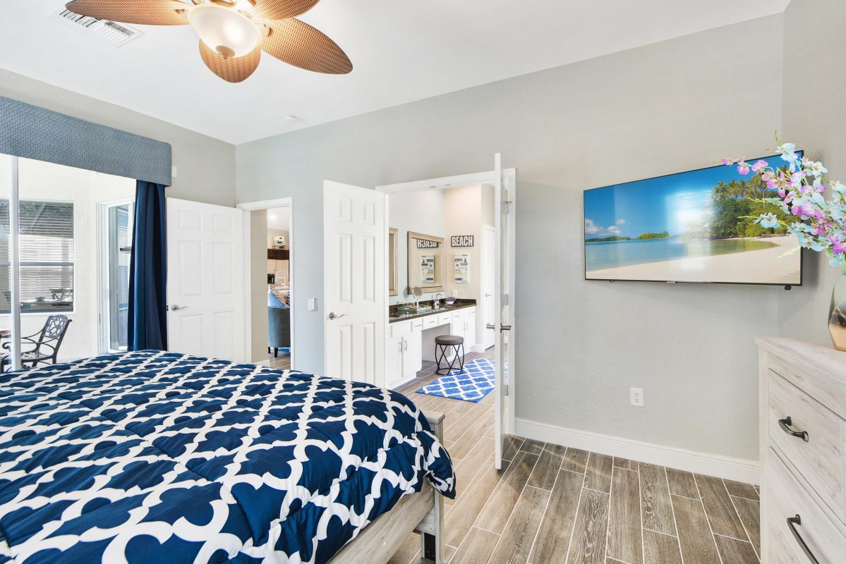 Ceiling Fans and HDTVs in All Rooms