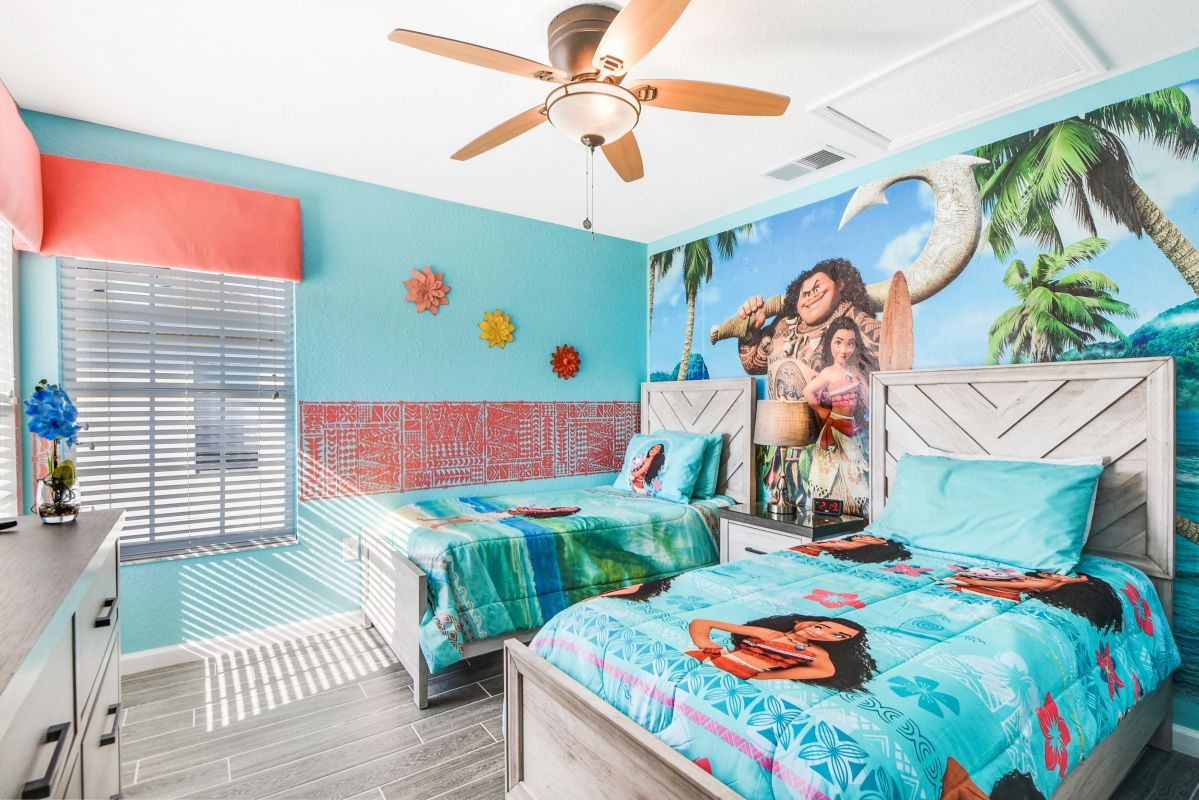 Moana Themed Bedroom (2x Twin Beds)
