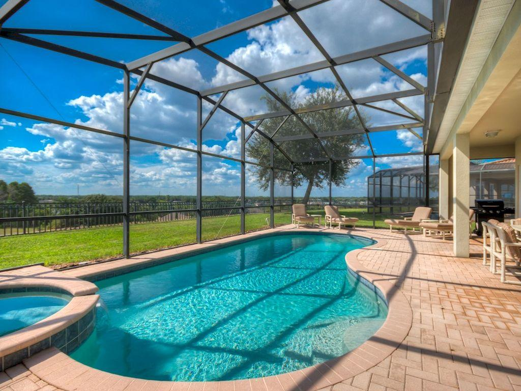 Private south west facing pool
