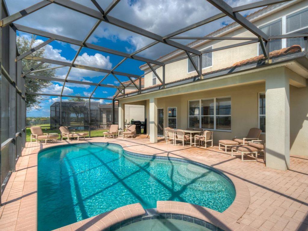 Private pool and lanai