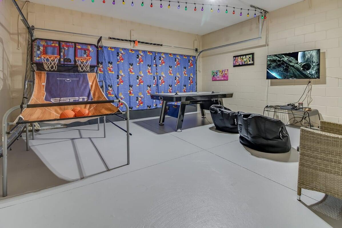 Game Room with PS 4, Air Hockey, Ping Pong and Double Shot!