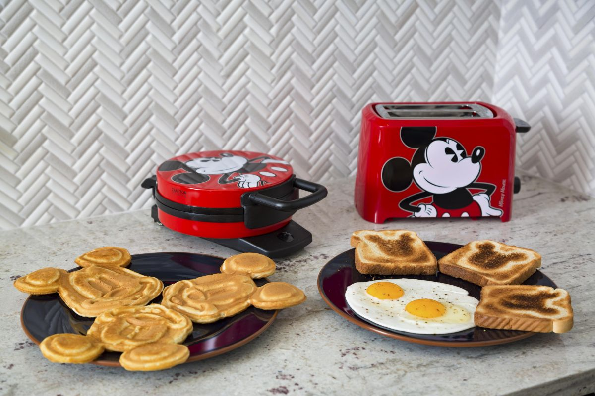 Your kids will abolutely love their Mickey waffles & Mickey toast in our home!