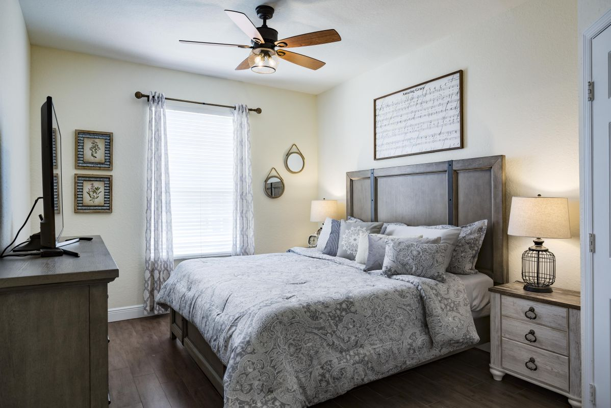 """King Master Suite with 50"""" 4K TV and tons of storage"""