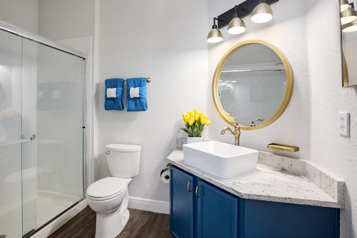 Ensuite Master bath with walk-in shower and oversized rain shower.