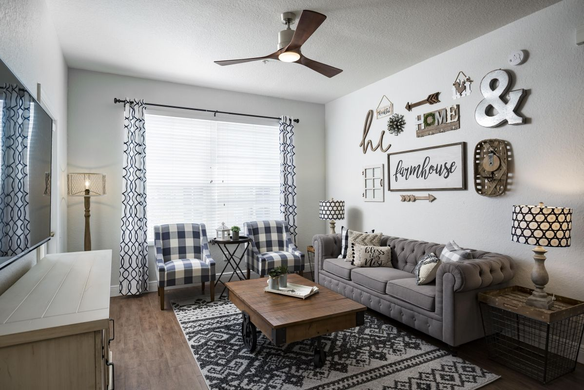 Comfortable seating for the entire family in the living area