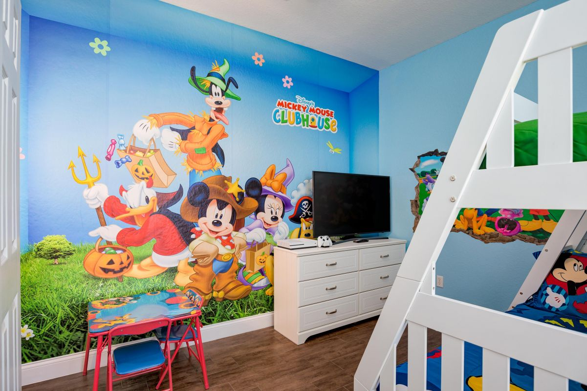 "Disney themed bedroom with 50"" Smart TV, XBox One S, toddler furniture & more"