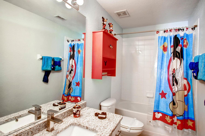Mickey themed full bathroom