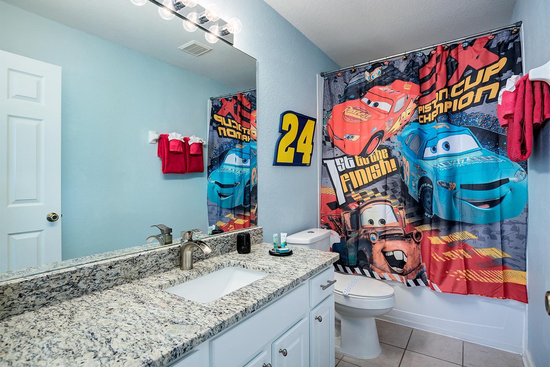 Disney Cars themed en-suite full bath