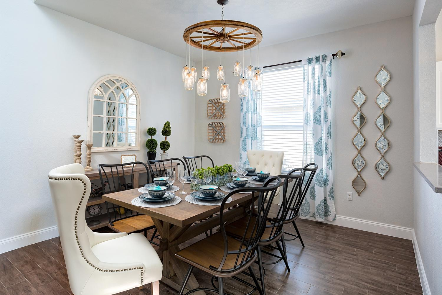 Large rustic farmhouse inspired dining table - seats 8