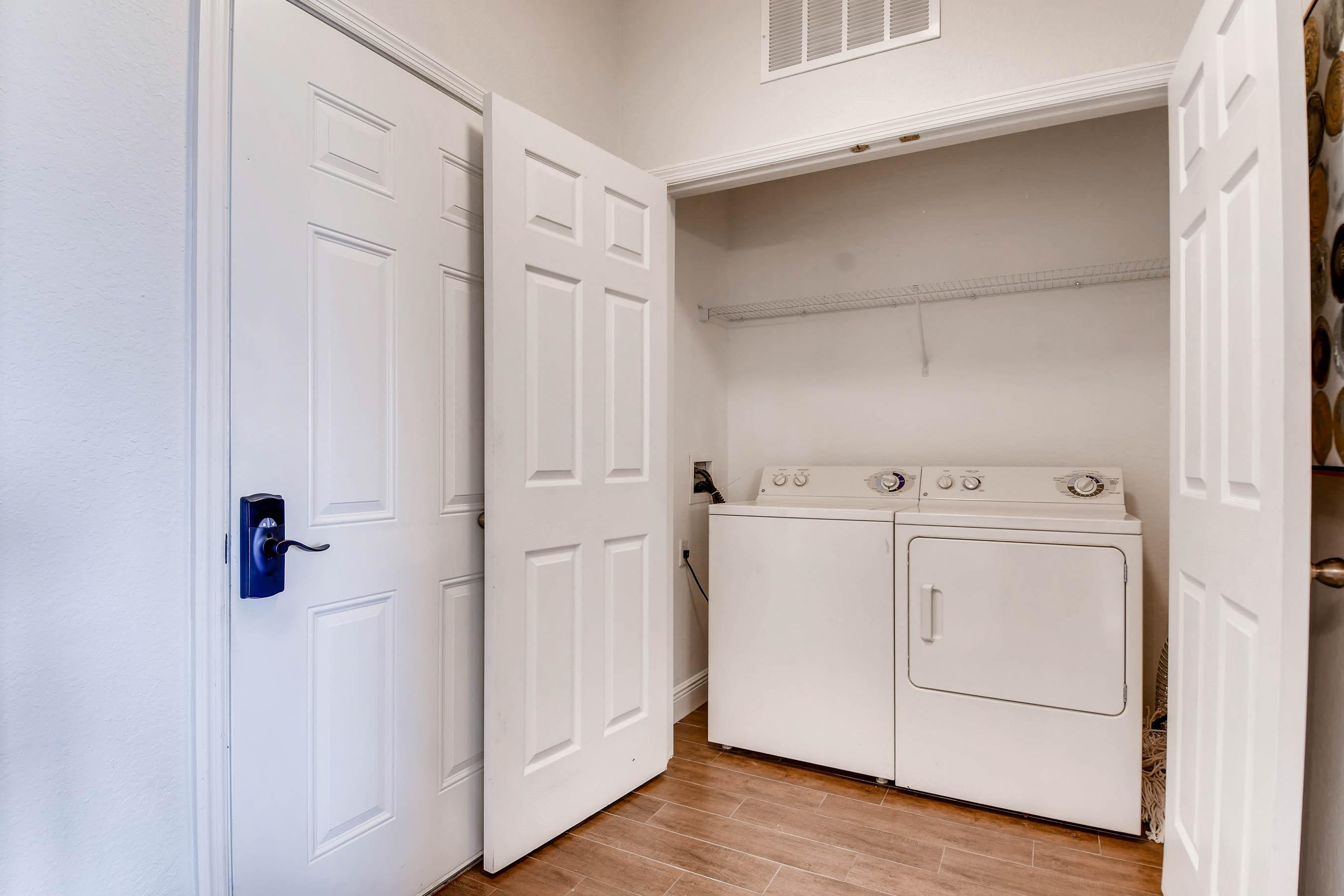 Full size washer and dryer available in our home