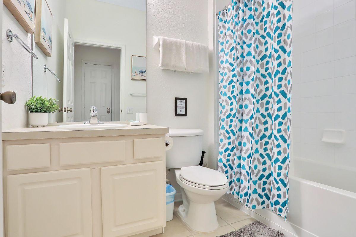 Bathroom next to Queen bedroom