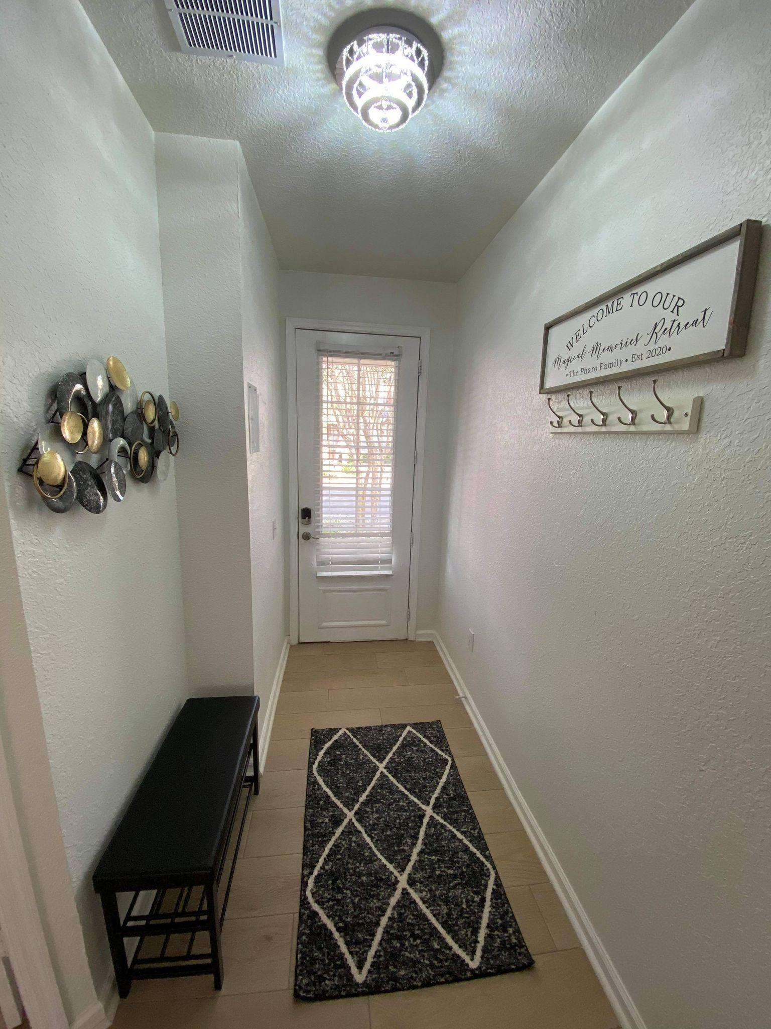 Entry hooks and shoe bench!