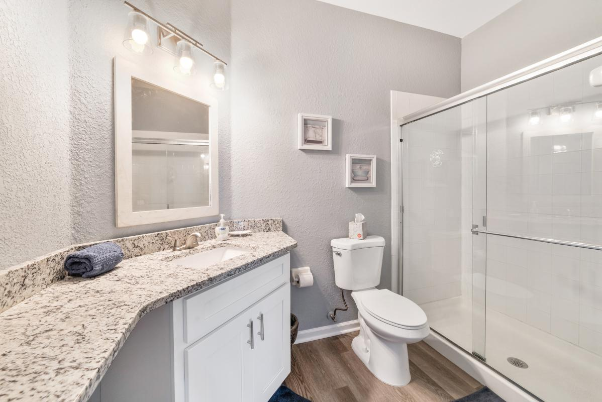 Updated Master bathroom