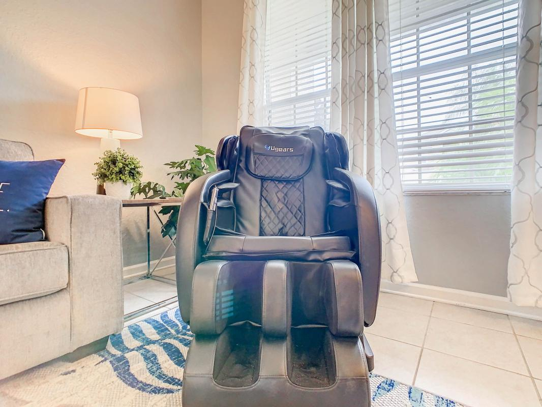 Relax with one of the massage chairs