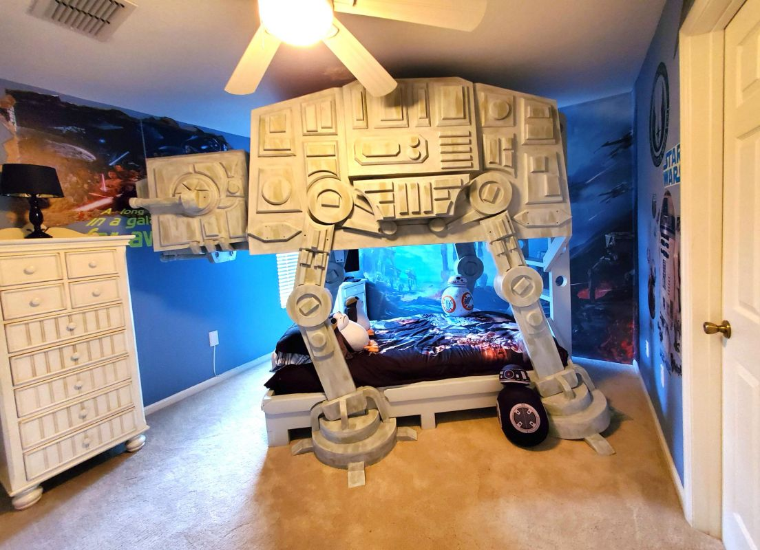 Star Wars Themed Bedroom Suite with AT-AT Bunk Bed