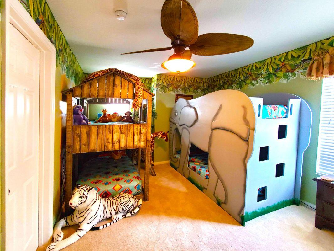 Lion King Bedroom, Tree House & Elephant Bunk Beds