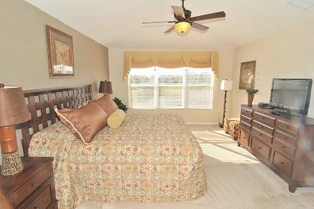 Elegant Master Bedroom with King Size Bed