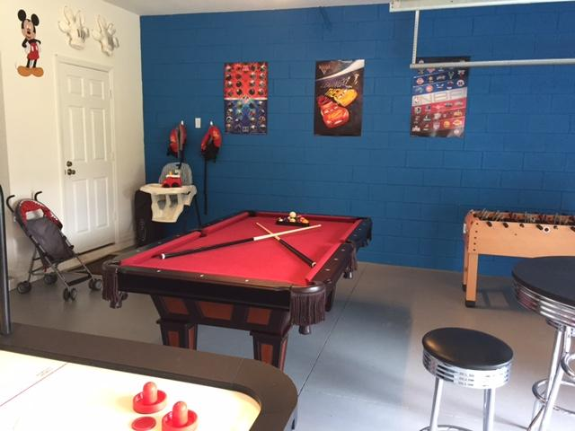 Games room keeps the kids busy!